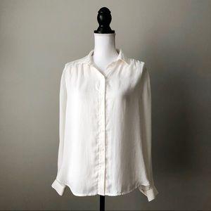 H&M | Striped Button Down Blouse